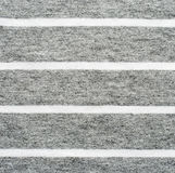 Gray and white striped cotton polyester texture Royalty Free Stock Photography