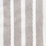 Gray and white stripes fabric closeup. Tablecloth texture Royalty Free Stock Image