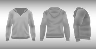 Gray-white T-shirt with hood Royalty Free Stock Photography