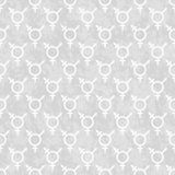 Gray and White Transgender Symbol Tile Pattern Repeat Background Stock Photos