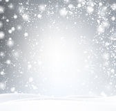 Gray winter background with snow. Royalty Free Stock Photos