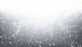 Gray winter background with snowflakes. stock illustration