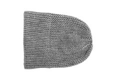 Gray winter hat. Gray winter hat isolated on white background Royalty Free Stock Images