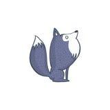 Gray Wolf Cartoon Character Photographie stock libre de droits