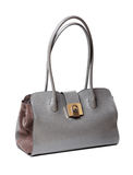 Gray woman's handbag Stock Photos