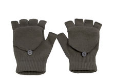 Gray wood gloves Royalty Free Stock Images