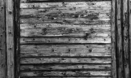 Gray wood texture. background old panels with gray Large wooden shield, billboard Royalty Free Stock Image