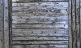 Gray wood texture. background old panels with gray Large wooden shield, billboard Stock Photo