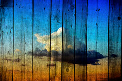 Gray wooden background Royalty Free Stock Images