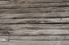 gray, wooden boards with cracks Royalty Free Stock Photo