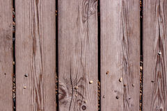 Gray wooden boards with pebbles Stock Photos