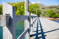 Gray Wooden Bridge Stock Photo