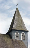 Gray Wooden Church Steeple photographie stock libre de droits