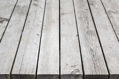 Gray wooden desk. Background photo Stock Image
