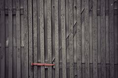 Gray wooden doo Royalty Free Stock Images