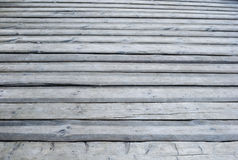 Gray wooden  outdoor terrace floor Stock Photos