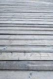 Gray wooden  outdoor terrace floor Stock Photography