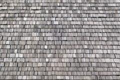 Gray wooden shingles Stock Photography