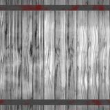 Gray wooden slats reinforced with iron bands. Stock Images