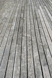 Gray wooden terrace floor Royalty Free Stock Photos