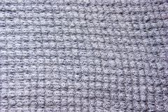 Gray Woolen Fabric Texture stock photography