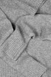 Gray woolen sweater Royalty Free Stock Image