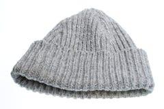 Gray woolen winter hat Stock Photos