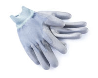 Gray working gloves isolated Stock Image