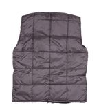 Gray working winter vest. Back view Stock Photos