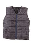 Gray working winter vest. Stock Image