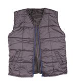 Gray working winter vest. Stock Photos