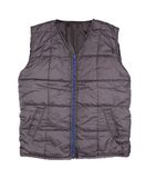 Gray working winter vest Stock Images