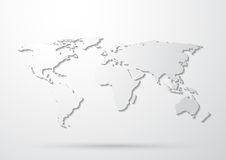 Gray World Map Stock Images