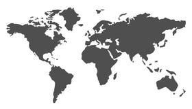 Gray World Map illustration - vector. Gray World Map illustration - stock vector Stock Photo