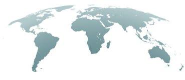 Gray World Map incurvé sphérique illustration libre de droits