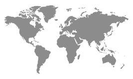 Gray World Map - vector. Gray World Map - stock vector Royalty Free Stock Photos