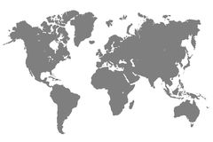 Gray World Map - vector Libre Illustration