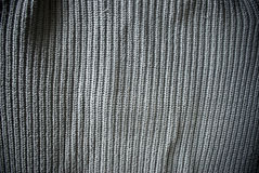 Gray woven striped material background or texture Stock Photography