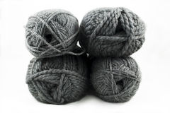 Gray Yarn Skeins Images stock