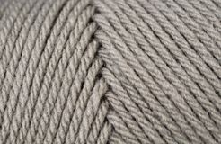 Gray Yarn Texture Close Up Images stock
