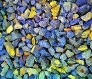Gray and Yellow Gravel Stones Stock Image