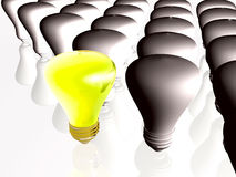 Gray and yellow lamps Royalty Free Stock Photo