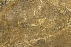 Gray yellow stone slab with white spots, scratches and cracks. natural surface texture. A gray yellow stone slab with white spots, scratches and cracks. natural royalty free stock photos