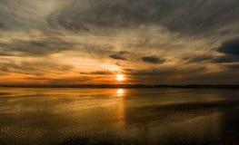 Grayland海滩日落 库存图片