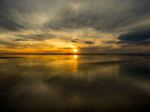 Grayland海滩日落 免版税图库摄影