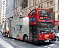 Grayline double decker red bus Stock Image