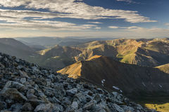 Grays Peak Summit. The view South from the summit of Grays Peak, Colorado Stock Photo