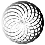 Grayscale abstract circular element Stock Photography