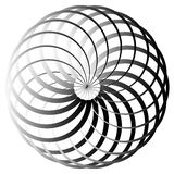 Grayscale abstract circular element Stock Photo