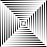 Grayscale abstract pattern, background with radiating squares Stock Photos